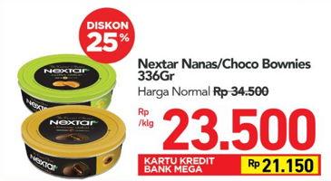 Promo Harga NABATI Nextar Cookies Nastar Pineapple Jam, Brownies Choco Delight 336 gr - Carrefour