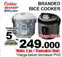 Promo Harga BRANDED Rice Cooker  - Giant