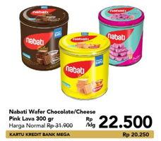 Promo Harga NABATI Wafer Richoco, Richeese, Pink Lava 300 gr - Carrefour