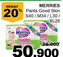 Promo Harga MERRIES Pants Good Skin S40, M34, L30, XL26  - Giant