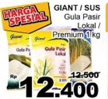 Promo Harga GIANT GIANT/SUS Gula Pasir 1kg  - Giant
