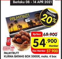 Promo Harga PALM FRUIT Kurma Batang 500 gr - Superindo