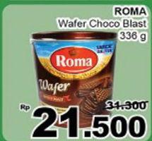 Promo Harga ROMA Wafer Choco Blast 336 gr - Giant