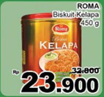 Promo Harga ROMA Coconut Biscuit 450 gr - Giant