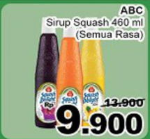 Promo Harga ABC Syrup Squash Delight All Variants 460 ml - Giant