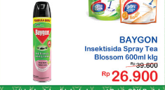 Promo Harga BAYGON Insektisida Spray Tea Blossom 600 ml - Indomaret