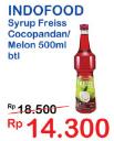 Promo Harga FREISS Syrup Cocopandan, Melon 500 ml - Indomaret