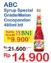 Promo Harga ABC Syrup Special Grade Melon, Coco Pandan 485 ml - Indomaret