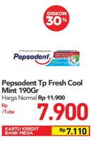 Promo Harga PEPSODENT Pasta Gigi Pencegah Gigi Berlubang Fresh Cool Mint 190 gr - Carrefour