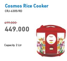 Promo Harga COSMOS CRJ 6305 Rice Cooker  - Electronic City