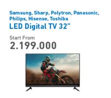 "Promo Harga SAMSUNG SAMSUNG / SHARP / POLYTRON / PANASONIC / PHILIPS / TOSHIBA / HISENSE LED Digital TV 32""  - Electronic City"