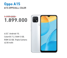 Promo Harga OPPO A15 Smartphone All Variants  - Electronic City