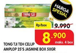 Promo Harga TONG TJI Teh Celup Jasmine Dengan Amplop 25 pcs - Superindo
