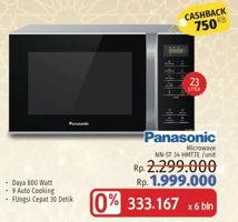 Promo Harga PANASONIC NN-ST34HMTTE   Microwave 23 ltr - LotteMart