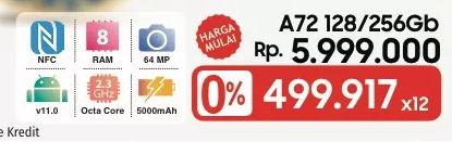 Promo Harga SAMSUNG Galaxy A72  - LotteMart