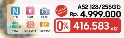 Promo Harga SAMSUNG Galaxy A52  - LotteMart