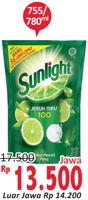 Promo Harga SUNLIGHT SUNLIGHT Pencuci Piring 755/780 mL  - Alfamidi