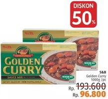 Promo Harga S&B Golden Curry Medium Hot 1000 gr - LotteMart