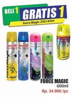 Promo Harga FORCE MAGIC Insektisida Spray 600 ml - Hari Hari