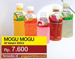Promo Harga MOGU MOGU Minuman Nata De Coco All Variants 320 ml - Yogya