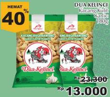 Promo Harga DUA KELINCI Kacang Kulit Bawang Putih  - Giant