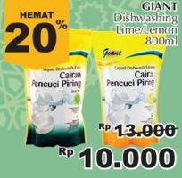 Promo Harga GIANT Pencuci Piring Lime, Lemon 800 ml - Giant