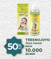 Promo Harga TRESNO JOYO Minyak Telon Herbal Plus 60 ml - Watsons